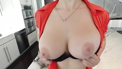 legitimate years aged big-titted gal spreading vagina