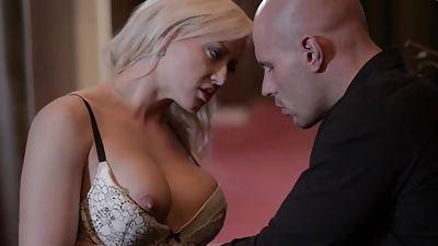 Czech blonde stunner working and sucking