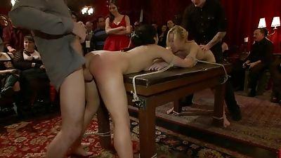 Fete with two lady restrain bondage fucking