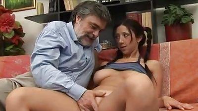 Oldman Legal years fucking gal with big beautiful tits
