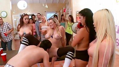 Chesty Pornographic Stars raid a dorm