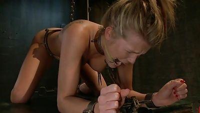 Youthful Aiden Aspen gets it hard In bondage