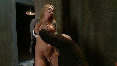 Young blond Aiden Aspen gets abjected