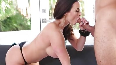 Kendra Lust fucking and sucking on a couch