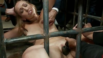 Stunner in a cage and fed to a thirsty bunch