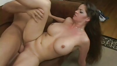 Sexy big-titted mom gets banged by her step-son