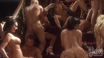 Porn industry star Orgy