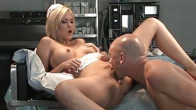 Youthful blonde nurse gets fucked