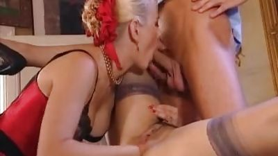 Ass Fucking and dildo going knuckle deep treatment. Threesome, Underwear