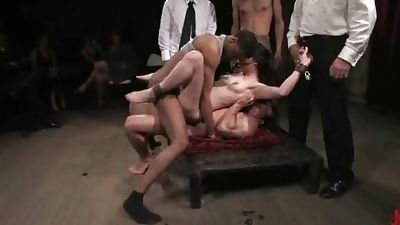 Damsel gets all her fuck-holes fucked really difficult