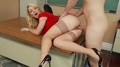 His instructor is pled by Invoice by eating and fucking her