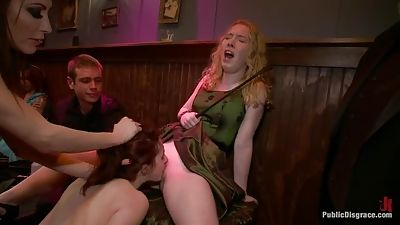 19 year old lady does her first sadism & masochism shoot