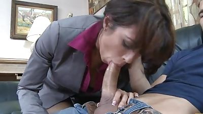 Too interested in her customer