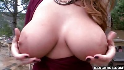 Dressed natural tits that are giant and booty
