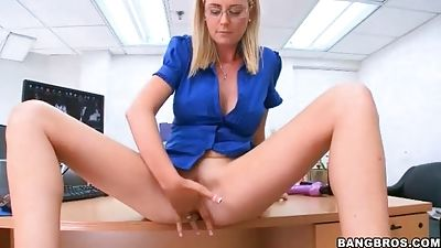 She looks not bad with this particular boner in her mouth