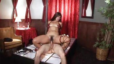 Stripteaser adoring client
