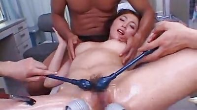 Japanese Cutie gets taunted with paintbrushes