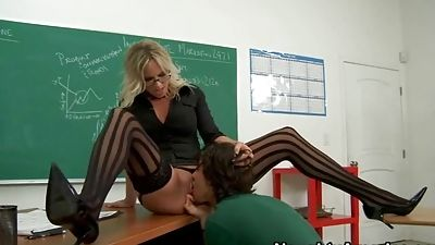 Prof. Lane needs her student to gobble it great
