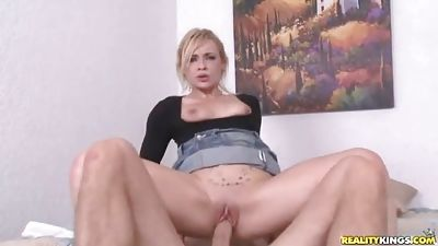 Sexy blond honey obtaining shagged challenging.., in clothing