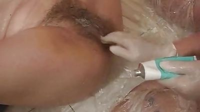 Immensely deep fisting hairy unexperienced coochie