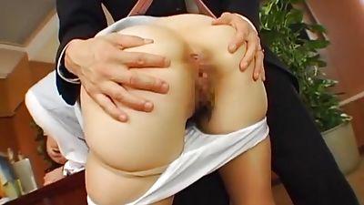Japanese office fuck. Pantyhose fetish