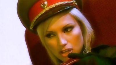 Blonde Soviet Policewoman having lesbian hump