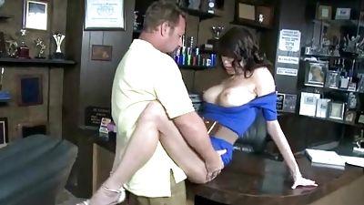 Trophy shop woman