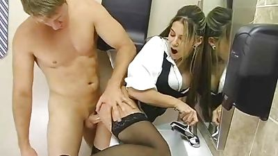 I banged my hot coworker in the bathroom of studs
