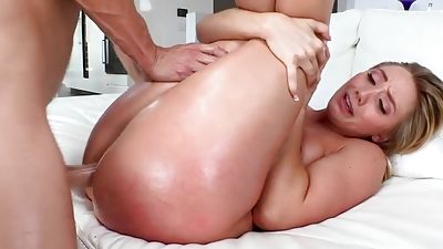 Young gets some big manmeat up her sweet bootie