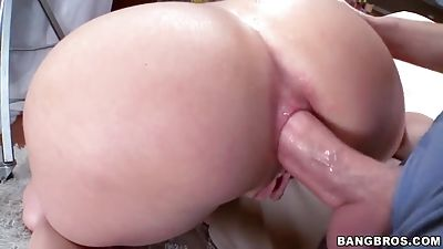Ass slipping on a chisel