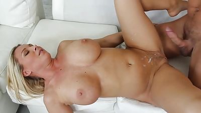 Pounding on my buddy's mom after dinner