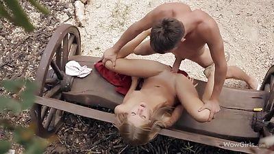 Romantic rail with Anjelica
