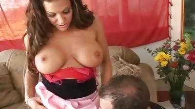 Huge-titted Milf providing fucking and deep throat
